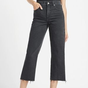 Cropped Wide Leg High Rise Jeans Express